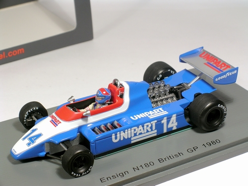 F1 Ensign N180 #14  Jan Lammers  Germany 1980 - Spark 1/43